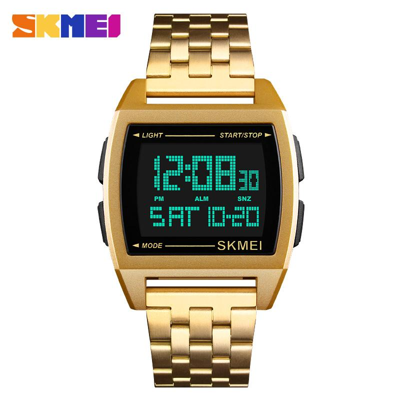 SKMEI Men's Watches Top Luxury Clock Digital Man Sport Watch Countdown Water Resistant Fashion Men Wrist Watch reloj hombre 1368