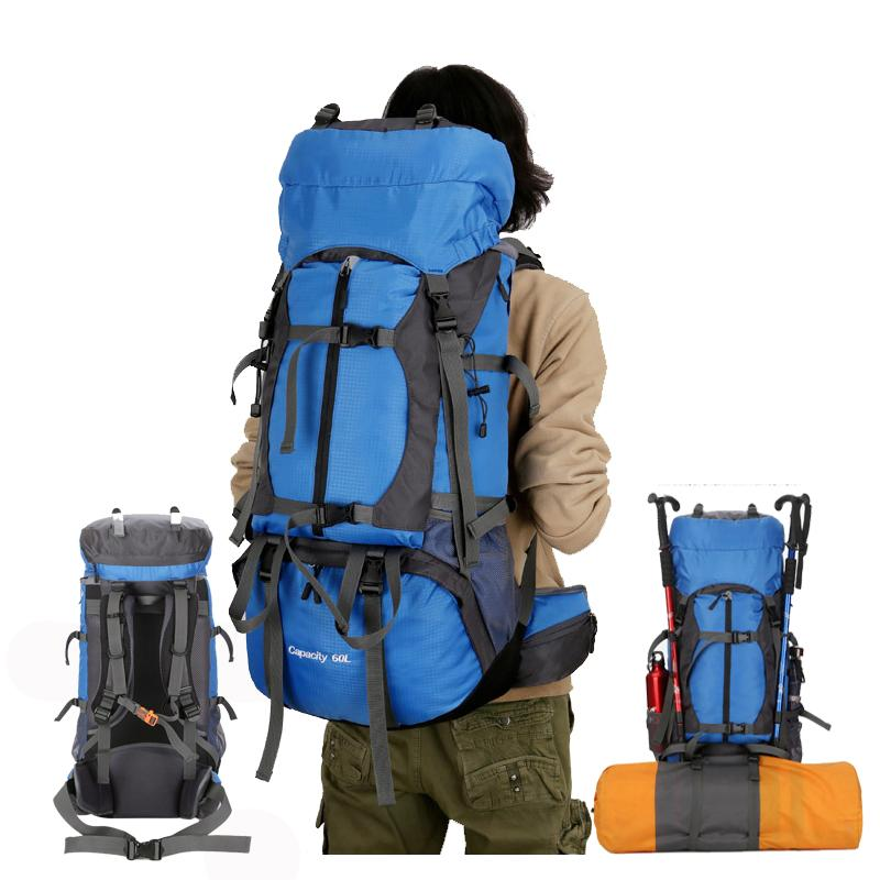 60L Outdoor Sport Backpack Camping Hiking Backpacks Mountaineering Travel  Bag With Backpack Waterproof Cover Reflective Strip Backpack Brands Rucksack  ... a8d25ddfeb