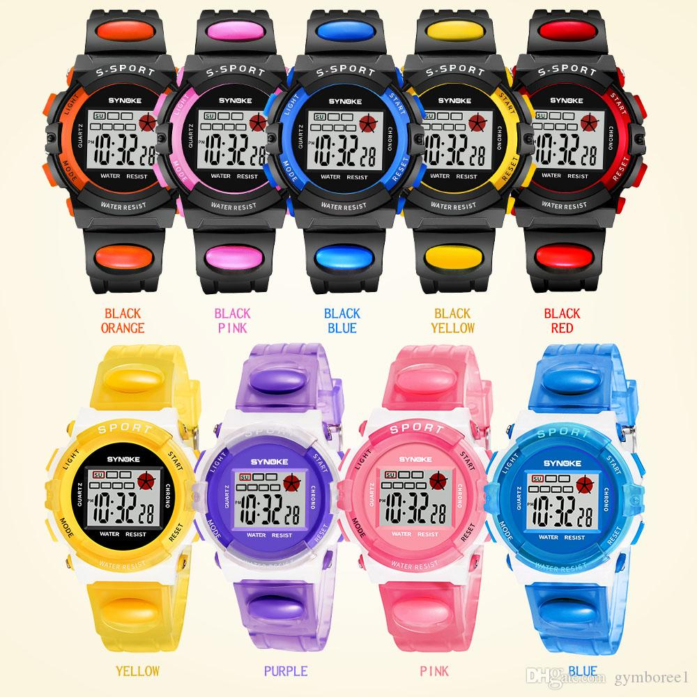Children Sport Watches Digital Wristwat ches Timer Alarm Chrono Boy Girl  Clock 50M Waterproof Kids Watch Blue