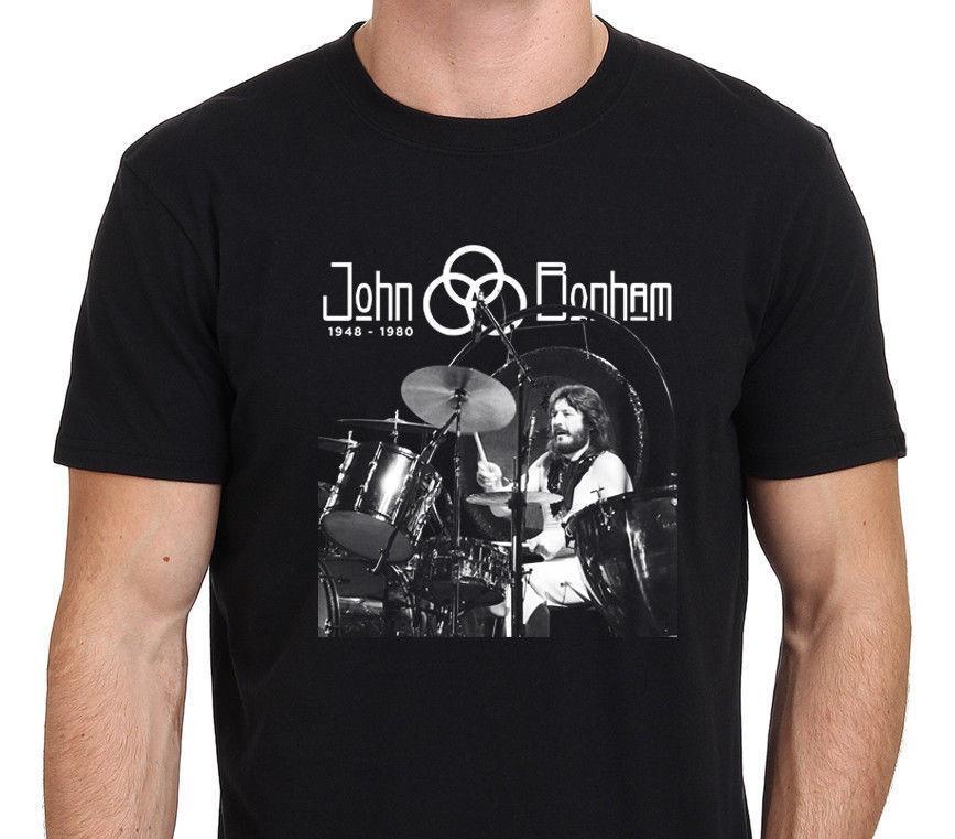 Compre Led Zeppelin John Bonham Legend Drummer Camiseta Hombre Negro  S Xxl  Cheap Crew Neck Men s Top Tee Estilo Occidental A  11.92 Del W18059742041  ... a034ca08fcce3