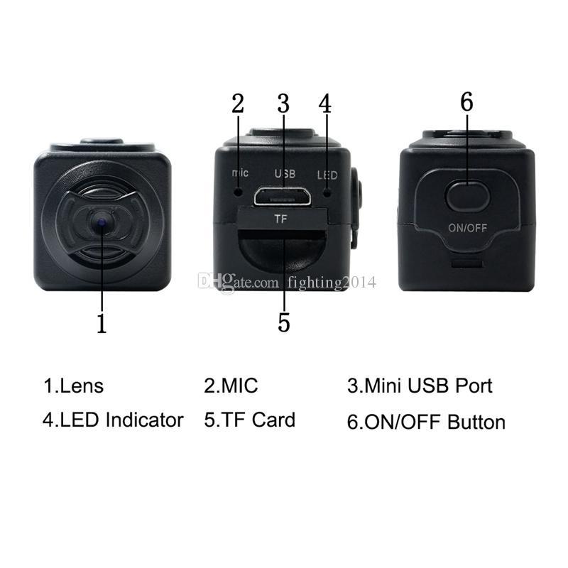 S5 Full HD 960P Micro Camera Tragbare Bewegungserkennung DV DVR Digital Voice Video Recorder Camcorder Sportkameras mit TF-Kartensteckplatz