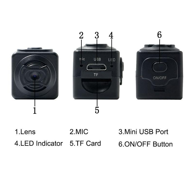 S5 كامل HD 960P كاميرا مايكرو كشف الحركة المحمولة DV DVR الرقمية الصوت فيديو مسجل كاميرات رياضية كاميرات مع فتحة بطاقة TF