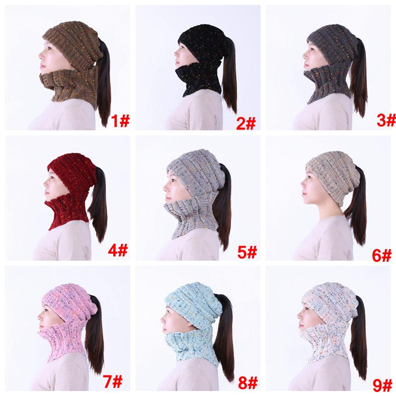 2019 Girls Knit Beanie Neck Scarf Set Trendy Warm Chunky Hat Soft Stretch  Cable Wome Lady Men Knit Beanie Ring Scarves Cap AAA1411 From B2b life 34f27998278