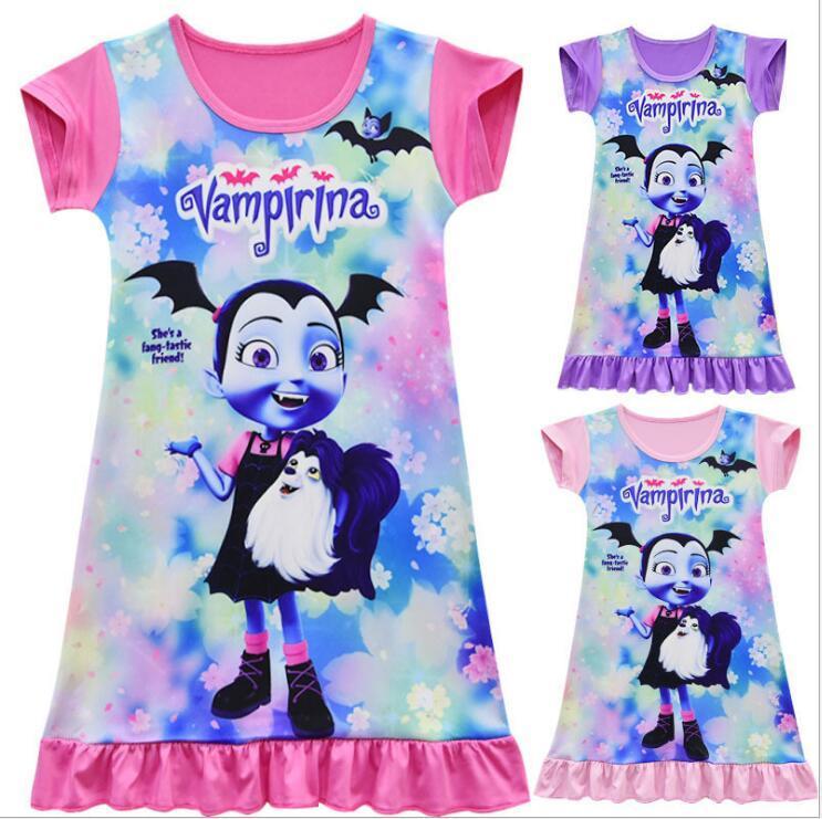 ed1d02f47 New Vampirina Princess Dress Girls Cartoon Nightgown Kids Dresses Night Gown  Pajamas Dress Sleepwear Pyjamas Baby Girls Clothes UK 2019 From Fkansis, ...