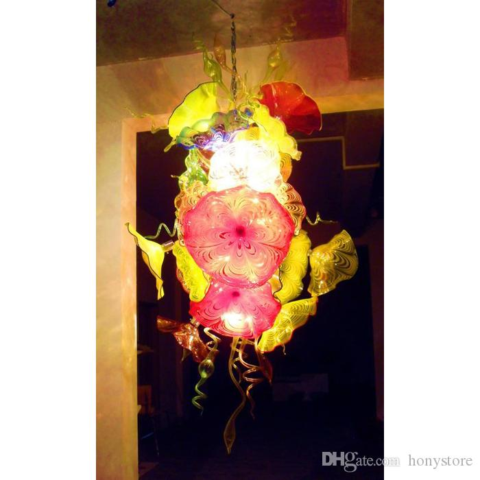Murano Glass Plate Chandelier Cheap Small Plate Ceiling Lamp for Museum Church Bar Coffee House Decor