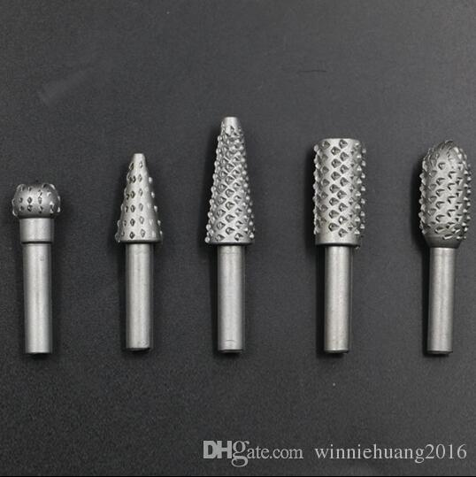 """Carbide Cutter Rotary Burr Set CNC Engraving Bit Woodworking Rotary File Bur Burr Grinding Shank 6mm 1/4"""" For Dremel Rotary Tools"""