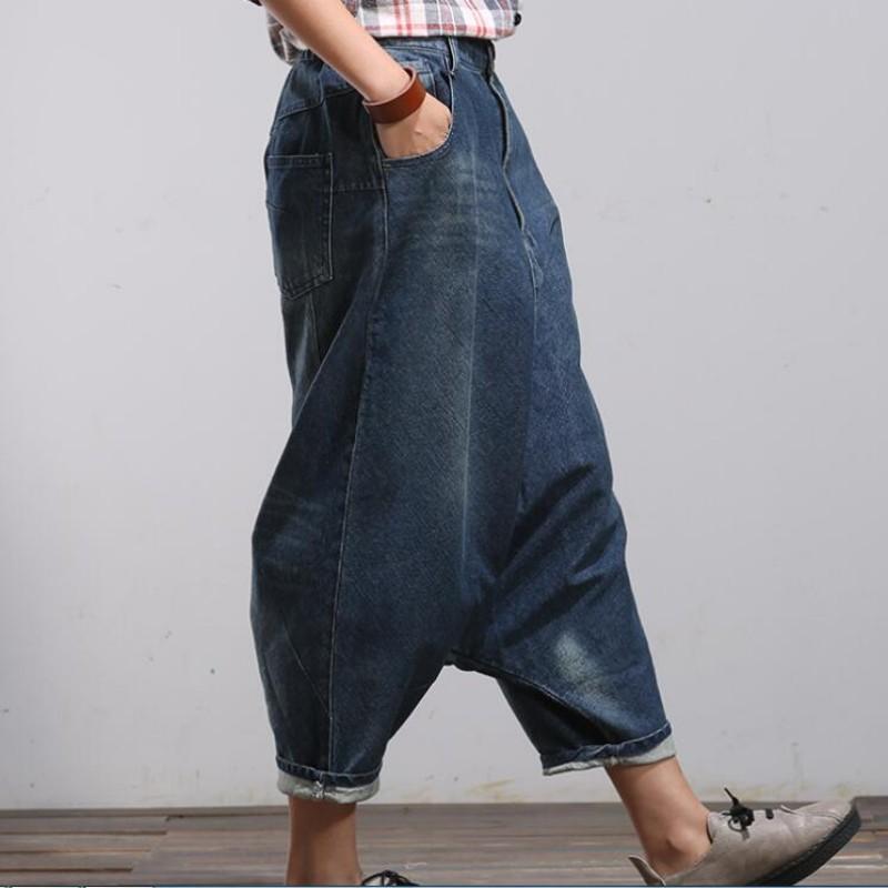 632f13608651cb 2019 Women Palazzo Capri Baggy Hip Hop Boho Loose Fit Jeans Vaqueros ...