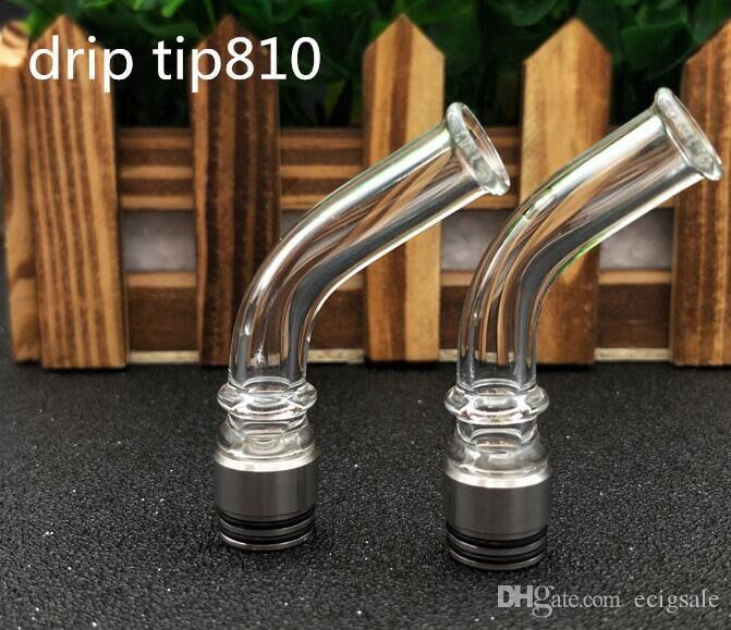 810 510 Porta uso lungo in vetro Acciaio inossidabile Drip Supporto TFV4 TFV8 Sostituzione Drip Suggerimento