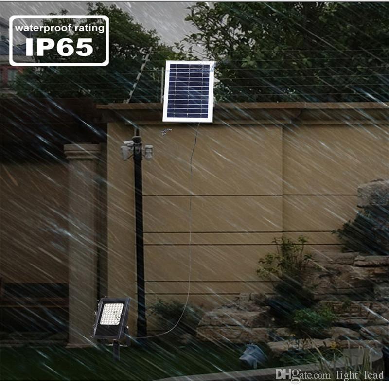 10W 50W LED Solar Proiettore RGB Telecomando LED Landscape Garden Yard Path Prato Light Outdoor impermeabile Luce di sicurezza