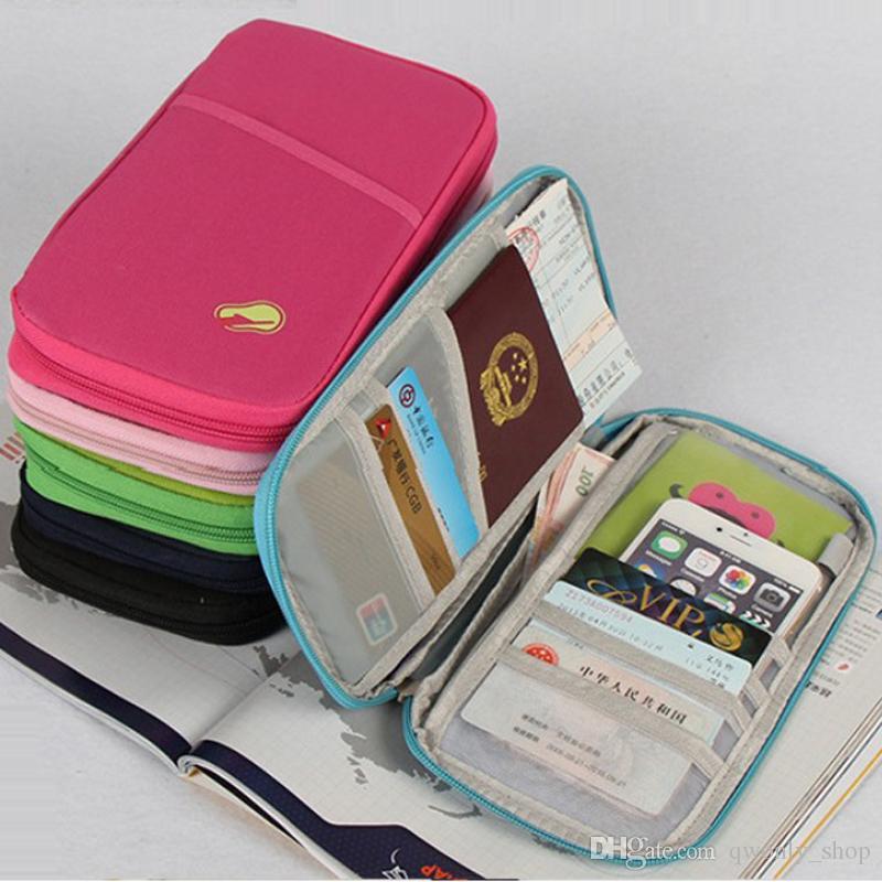 fc920549c Passport Holder Ticket Wallet Handbag ID Credit Card Storage Bag Organiser  Zipper Travel Passport Wallet Document Bag Womens Credit Card Wallet Bags  Men ...