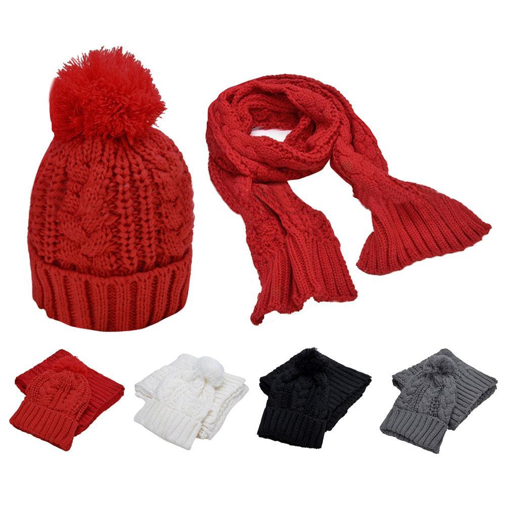 Warmer Winter 2 in New Fashion Women Thicken Scarf Wrap Hat Set ... 69c78600fc13