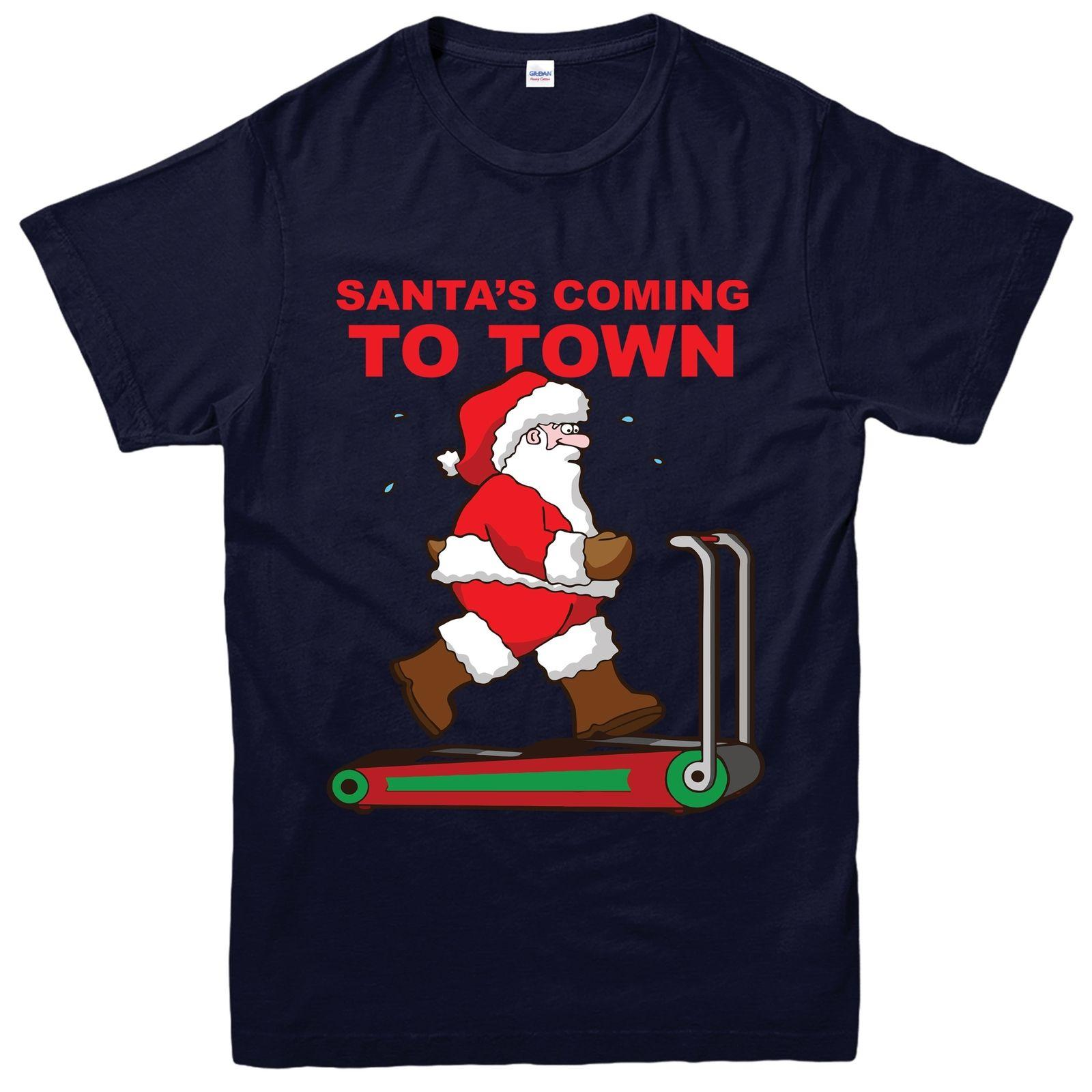 348d763be Santa Christmas T Shirt, Santa Workout Exercise Festive Adult & Kids Tee  Top Funny Tee Shirt Buy T Shirt Designs From Shadowtshirt, $13.19|  DHgate.Com