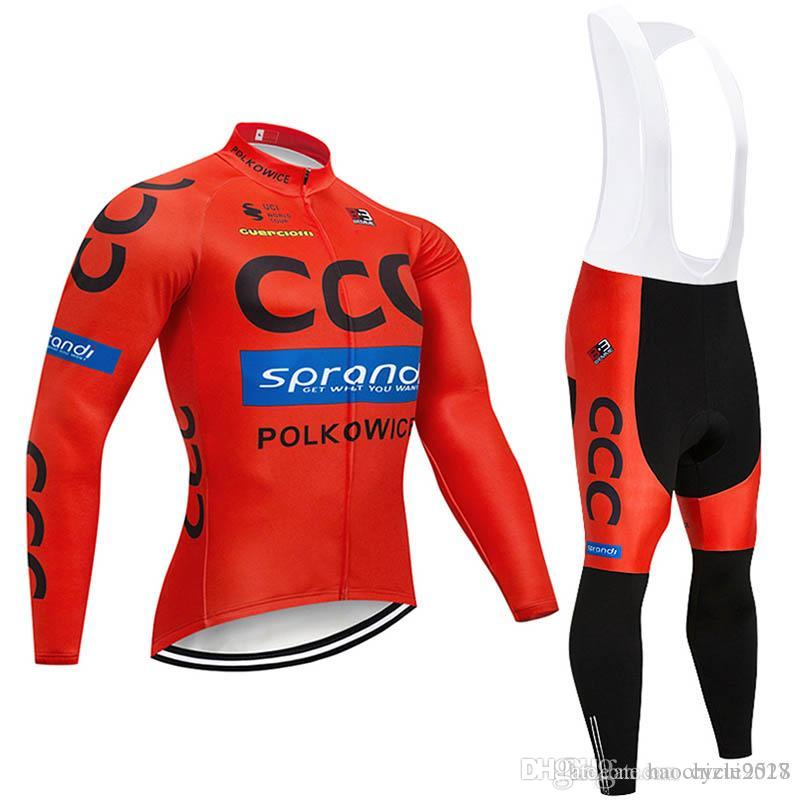 2018 Spring Autumn Pro Team Long Sleeve Cycling Jersey Set Maillot ... f50a69b82