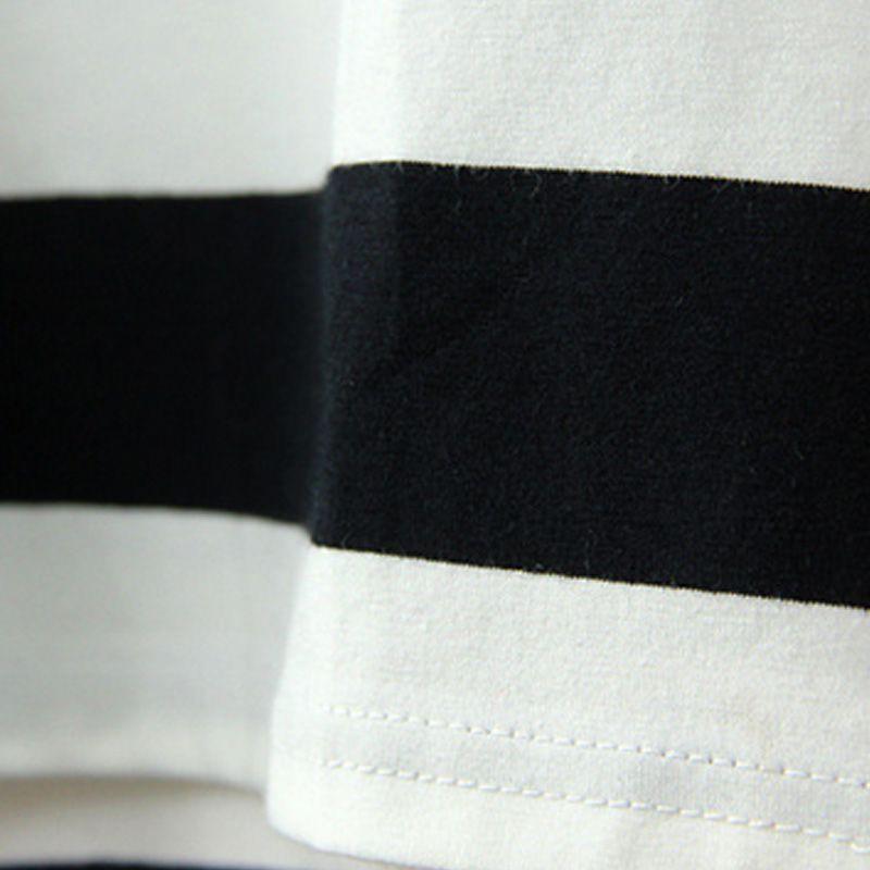 Hot Sale Children Girls' Clothing Black And White Stripes Summer Girl Dress 100% Cotton 3-14 Kids Vest Dresses for Teenage Girls