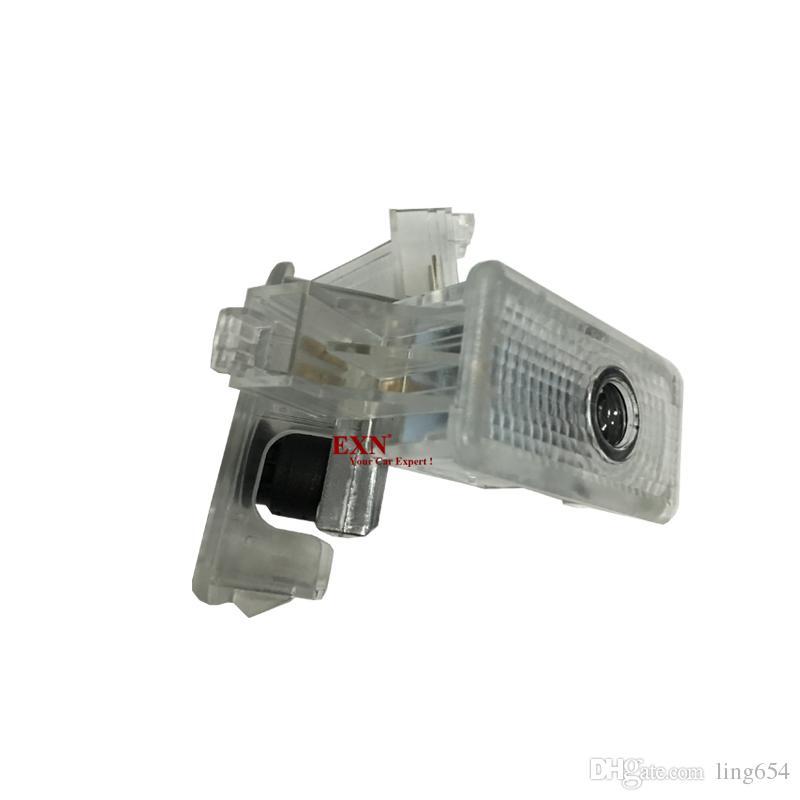 2 Adet LED Araba Kapı Hoşgeldiniz Işık Nezaket Lamba Araba Lazer Projektör Logo Acura MDX TL ZDX RLX Için Hayalet Gölge Işık