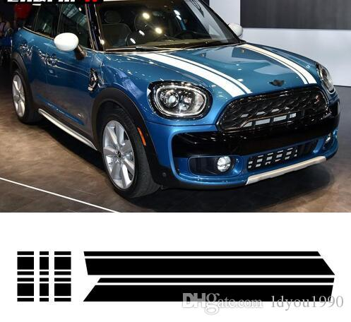Bonnet Stripes Hood Trunk Engine Cover Rear Vinyl Decal Stickers For