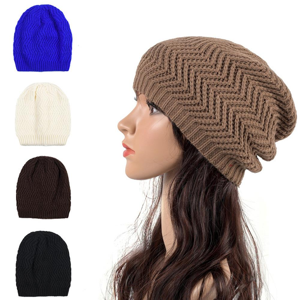 64d6cd27a83 2019 Men Women Knitted Crochet Hat Winter Warm Stretch Slouchy Beanies Cap  Oversized HATLN0010 From Peachguo