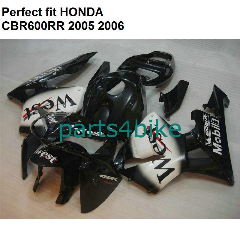 Bodywork Kit For Fairings Cbr600rr 2005 2006 White Black Fakit Cbr 600 Rr 05 06 Np02