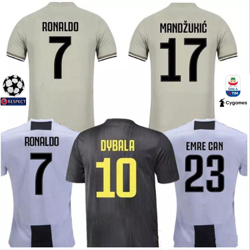 Compre 2018 19 RONALDO Maillot JUVENTUS Casa Fora Camisa De Futebol DYBALA  MANDZUKIC PJANIC Camisa De Futebol MARCHISIO Maillots Camisa De Futebol Dos  ... 0c7dcb7302c47