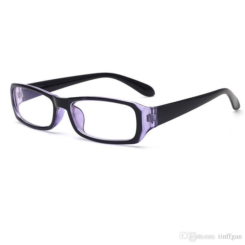 44cf87ea09 Optical Plain Mirror Eyeglasses Frames Anti-uv400 Lens with Blue Coated  Eyewear Frame Men Women Eye Glasses Frame Finished Myopia Glasses Glasses  Frames ...
