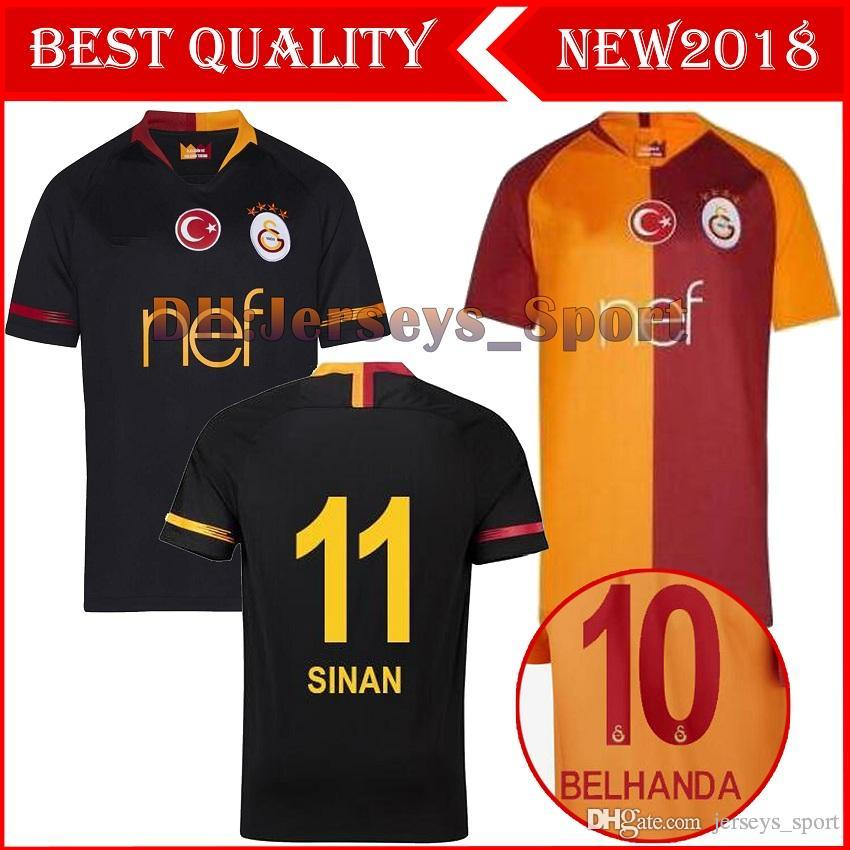 2019 2019 Galatasaray Home Away New Soccer Jerseys 18 19 Galatasaray Spor  Kulubu Away Black Football Shirts 2018 Football Uniform Sales From  Jerseys sport 68a64d47c