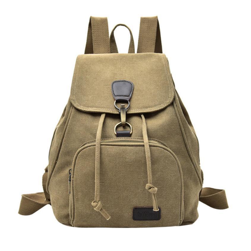 a940d073906c Wholesale Canvas Backpack Women Waterproof Backpack Anti Theft Backpacks  Ladies Bandage Flap Backpacks Female Soft Pocket Bag 24 Camera Backpack  Back Packs ...