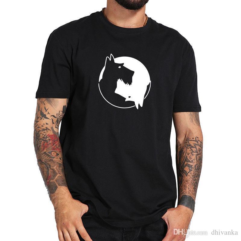 4fe639c6 Schnauzer T Shirt Tai Chi Design Tops Cotton Short Sleeve T Shirt Dog  Online T Shirt Printing On T Shirts From Dhivanka, $11.17| DHgate.Com