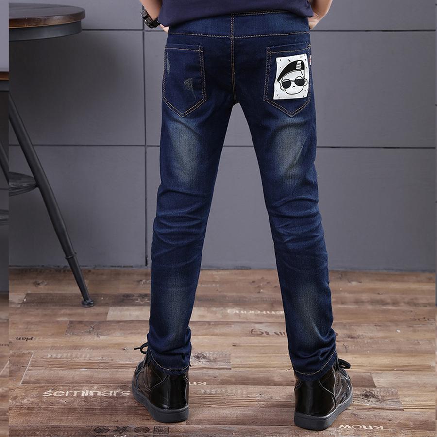 Famli дети мальчик джинсы весна осень детские джинсовые брюки мальчики повседневная печатных прямые брюки 3 4 6 7 8 10 джинсы Fille
