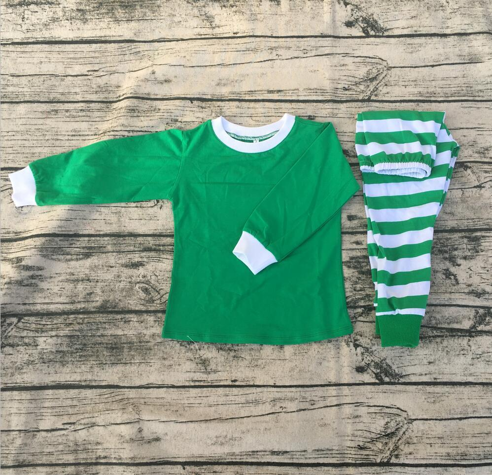 053508a27ca3 Personalized Kids Christmas Pajamas Outfits Green Red Plaid Children ...