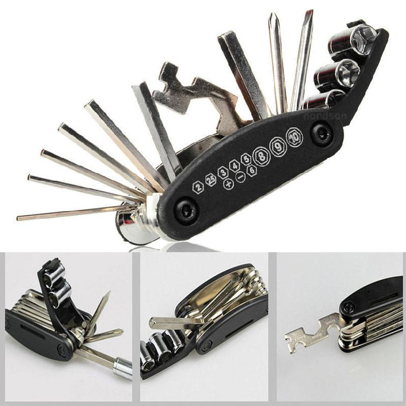 7c91958ab Compre Multi Function Bike Motorcycle Mechanic Repair Tools Kit De Viaje Al  Aire Libre Coches Eléctricos Allen Key Multi Hex Wrench Screwdriver Set A  $29.0 ...