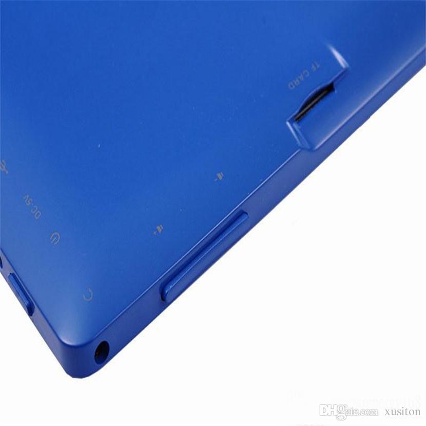 Q8 tableta de 7 pulgadas A33 Quad Core Allwinner Android 4.4 Fuerte capacitiva 512MB RAM 8GB ROM WIFI DualCamera linterna Q88 CPB-6