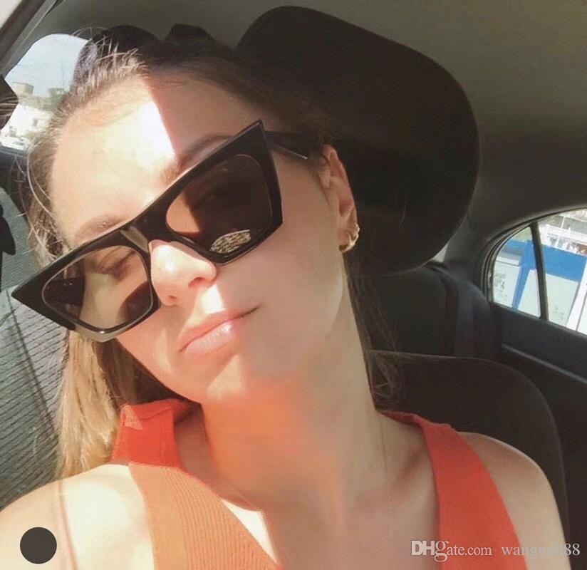 Kadınlar Için lüks 41468 Güneş Gözlüğü Popüler Moda Tasarımcısı Gözlüğü Tasarımcı UV koruma Kedi Göz Çerçeve En Kaliteli Paketi Ile Gel