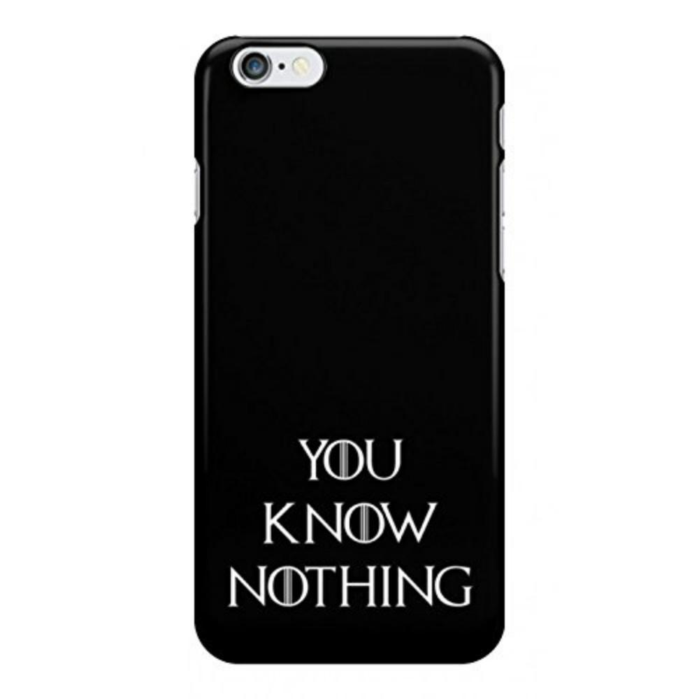 huge discount e35cd 432e5 You Know Nothing Game of Thrones Phone Case For Iphone 5c 5s 6s 6plus  6splus 7 7plus Samsung Galaxy S5 S6 S6ep S7 S7ep