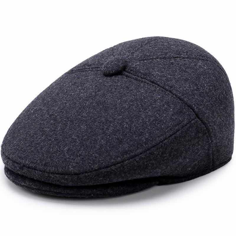 2019 HT1851 Men Caps Hats Autumn Winter Hats With Ear Flap Vintage Newsboy  Ivy Flat Caps Wool Blend Berets Men Casual Warm Beret From Glioner 70a81f6dfa5