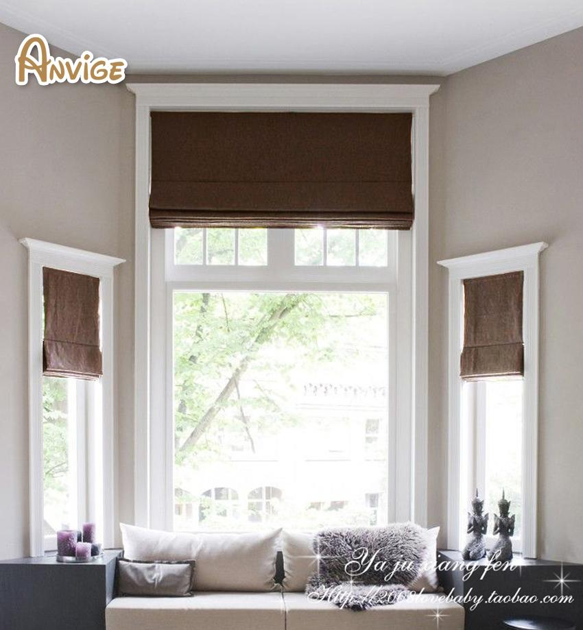 High Quality Half/Full Blackout Roman Blinds Rollor Blind Window Curtains  For Living Room Window Blinds Blackout Blinds Curtain Blinds Online With ...