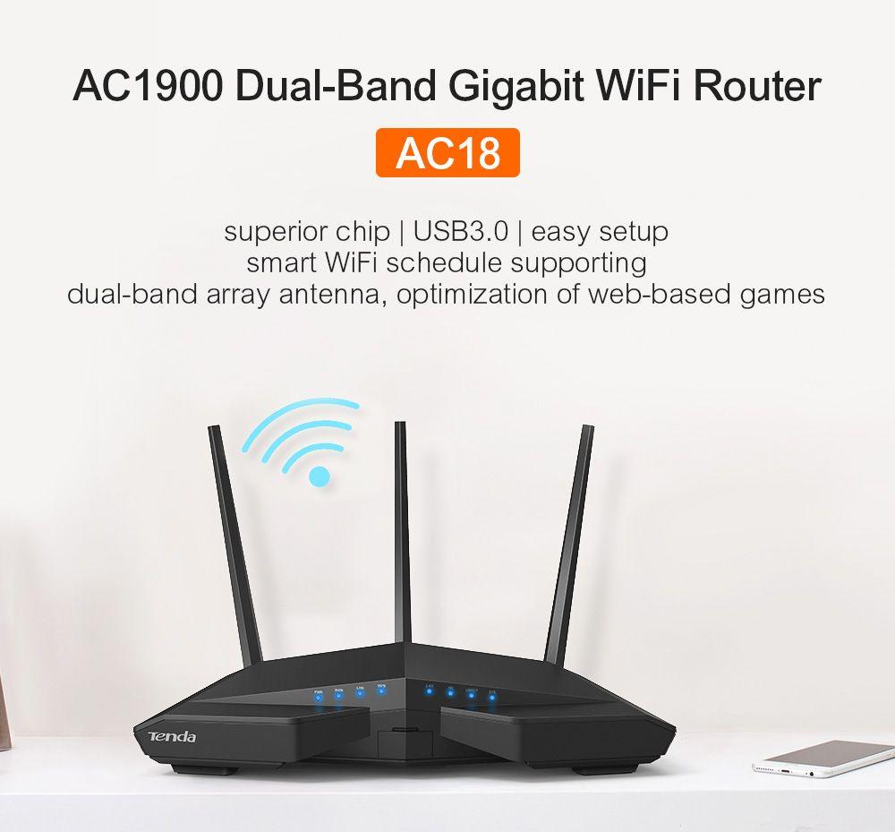 Tenda AC6 1200mbps Wireless Wifi Router 11AC Dual Band 2.4Ghz/5.0Ghz ...