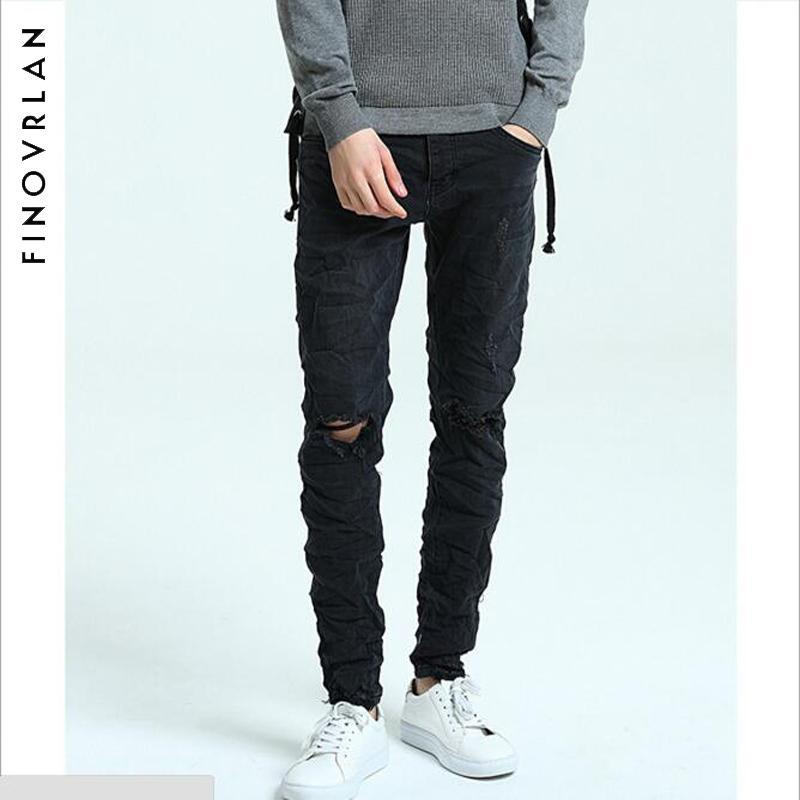 competitive price 5baad a2164 Jeans skinny neri Uomo Autunno-Inverno Jeans elasticizzati Denim Uomo  Elastico Casual Slim Jean Pantaloni Uomo Qualità Homme