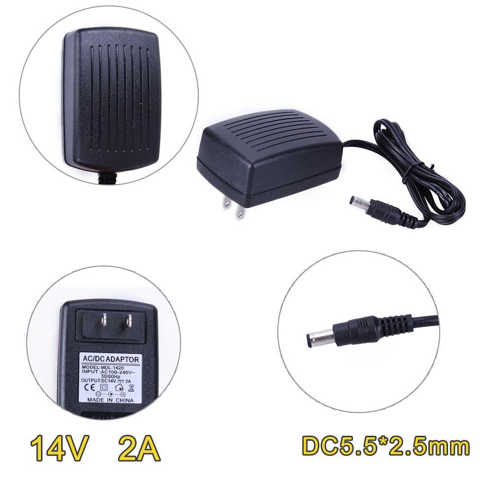 DC 14V 2A AC 100-240V Converter Adapter AC to DC Converter 5.5*2.5 mm Power Supply AU UK EU AU Plug Connectors