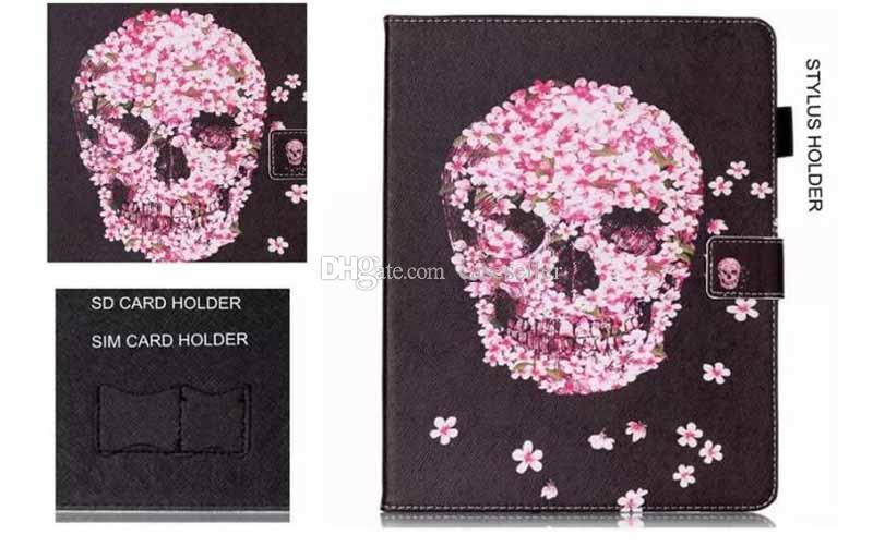 Live the life Skull Owl Paris Butterfly PU Leather Flip Case for ipad 2/3/4 air2 mini 1/2/3/4 new ipad 2018/2017 ipad pro 9.7