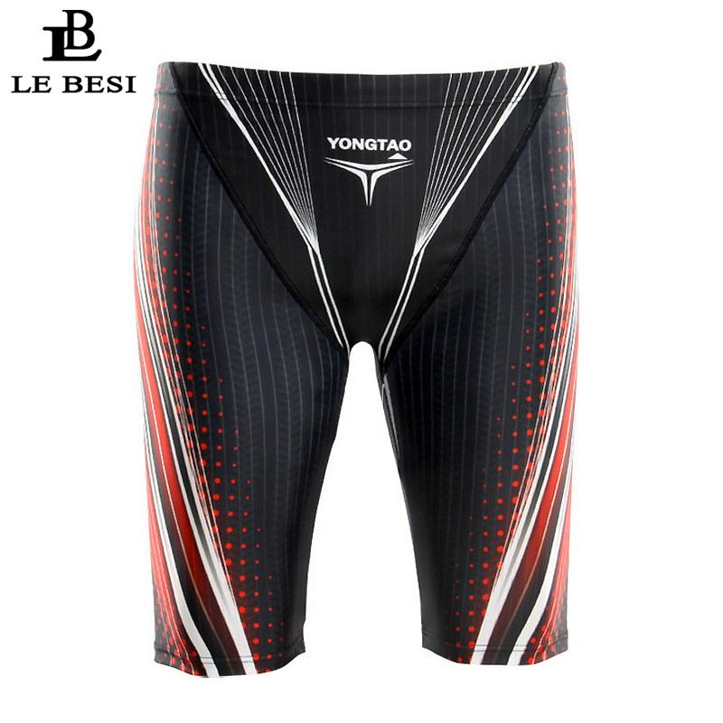 f0bf3b11c9 2017 Lebesi Men Professional Swimming Trunks Fifth Pants Men 'S ...