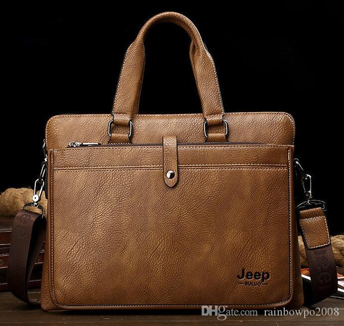 dc8ee7fbd7ee Factory Wholesale Brand Men Bags Fashion Leather Business Briefcase Casual  Leather Computer Bag Tide Large Capacity Leather Mens Bag Overnight Bags ...