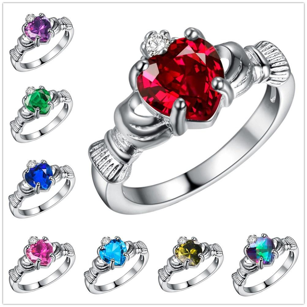 Irish Wedding Rings.Wholesale 2018 New 925 Sterling Silver Rings For Women Traditional Irish Wedding Rings Claddagh Ring Heart Love Women Friendship Best Gift