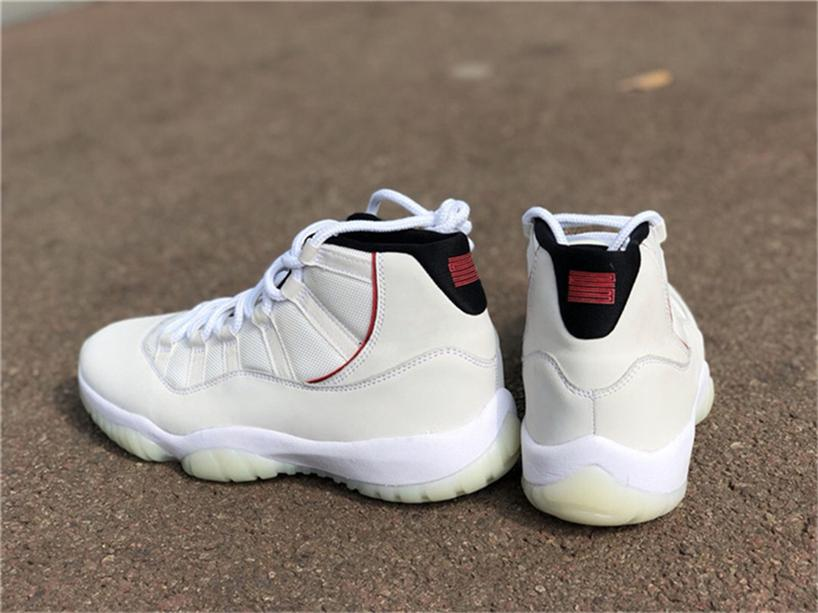 e8c1a250da5 2018 Release Authentic 11 Platinum Tint 11S Red Gery White Men Basketball  Shoes 378037 016 Real Carbon Fiber Sneakers With Original Box Shoes Mens  Online ...