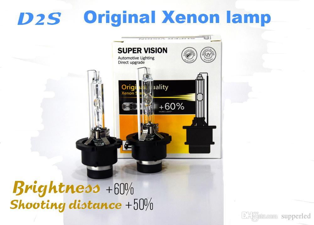 2 قطعة / الوحدة المصابيح الأمامية سيارة زينون d2s hid لمبة مصباح ضوء 4300 كيلو دافئ الأبيض ، 6000 كيلو الأبيض d2s الساخن بيع