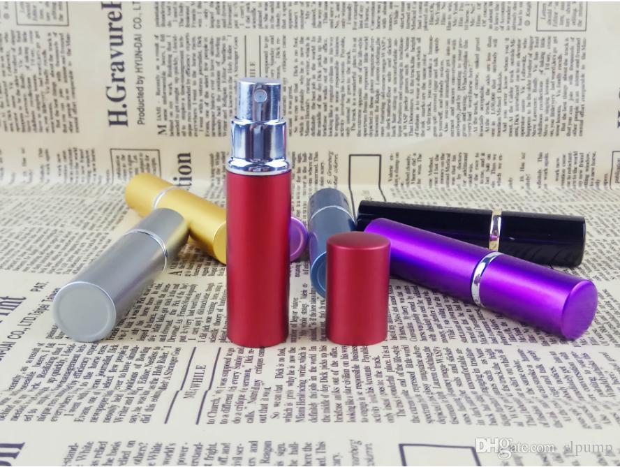 5ml mini Spray portatile bottiglia di profumo 5ml alluminio profumo atomizzatore atomizzatore vetro viaggio riutilizzabile contenitore cosmetico vuoto