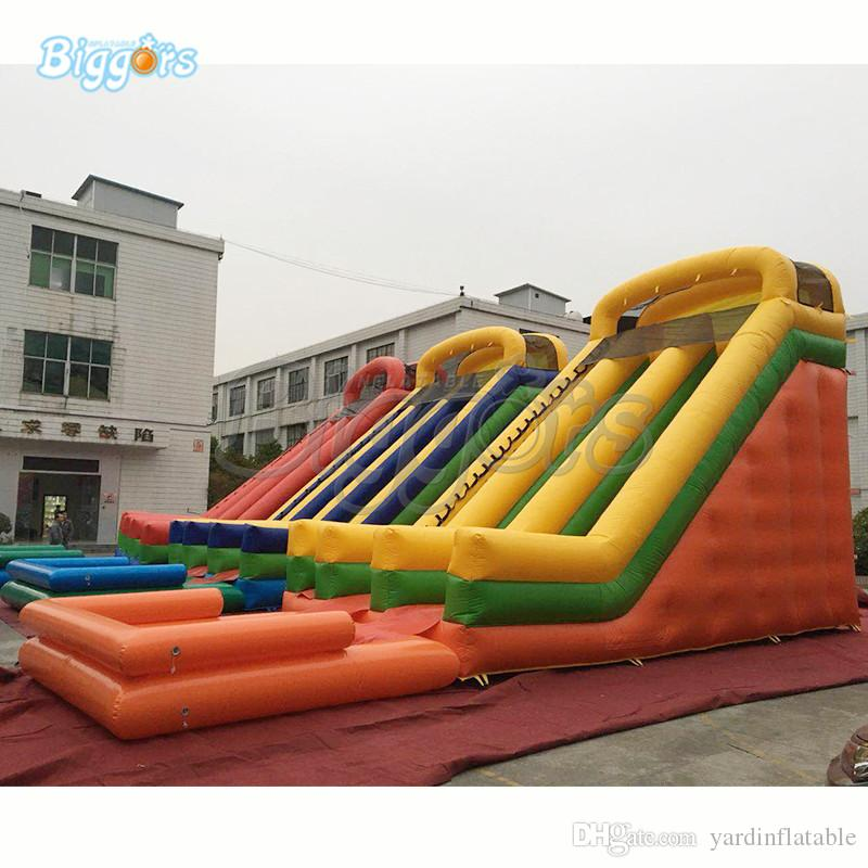 516479fdd Hot Selling Outdoor Inflatable Carnival Bouncing Wet Water Slide ...
