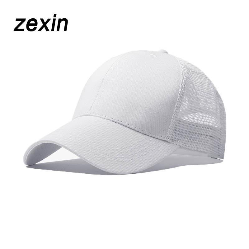 69734772a99 Women Sport Mesh Ponytail Baseball Cap For Men Outdoor Messy Bun Hat ...