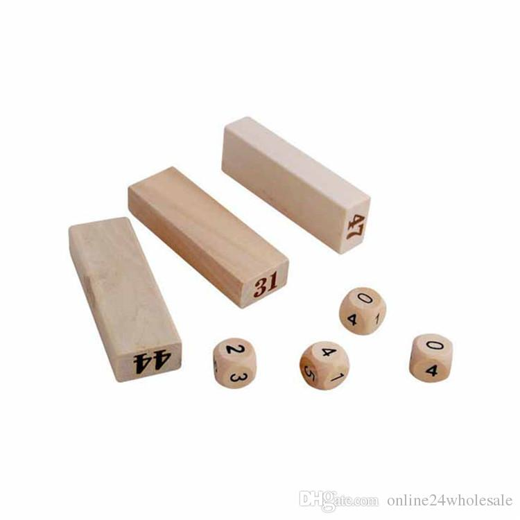 Children Wooden Digit Numbers Blocks Stacked Layers Building Blocks Educational Toys For Kids Gift 0-3 Years Old Girls Boys Gift