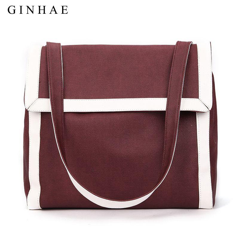 d5fc930801 Fashion Large Capacity Solid Women Handbag Simple Lady Soft Pu Leather Shoulder  Bag High Quality Big Shopping Tote Bag For Girls Cheap Designer Bags Mens  ...