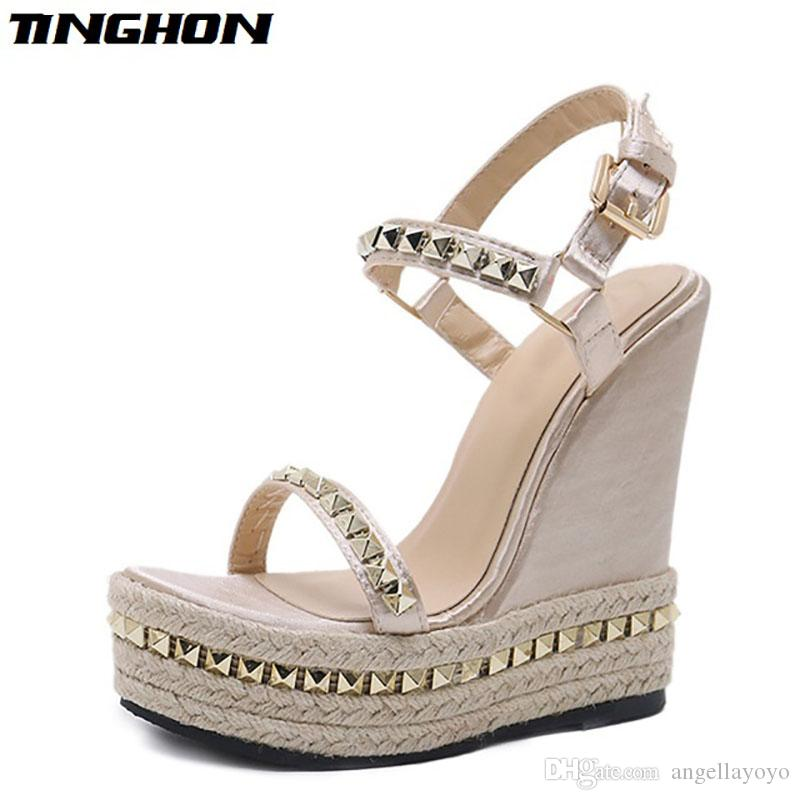 88a46b2fa2 Wedges Sandals Summer Pumps with ankle strap Sandals stripper heels  Platform Wedges Open Toe Women Shoes stripper shoes
